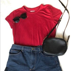 Tops - Basic soft red tee